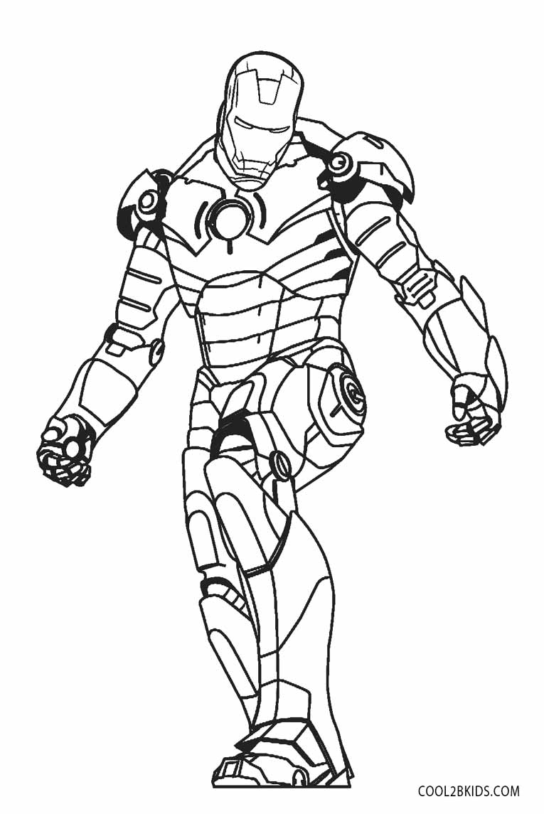 765x1145 Iron Man Coloring Pages Free Printable For Kids