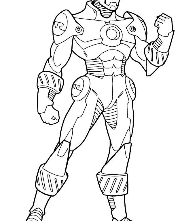 625x768 Iron Man Coloring Pages Ironman Coloring Pages Free Iron Man