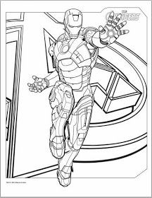 216x280 Iron Man Marvel Iron Man Coloring Pages Free Printable For Adult