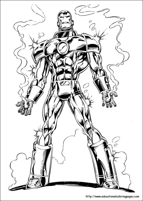 567x794 Iron Man Coloring Pages Free For Kids