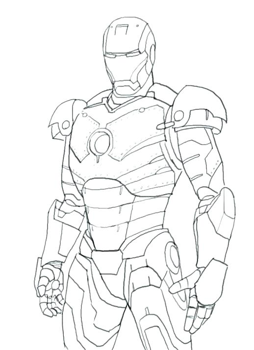 518x714 Iron Man Coloring Pages Free Printable