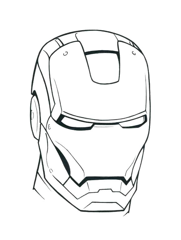 580x770 Iron Man Color Page Iron Man Face Coloring Pages Iron Man