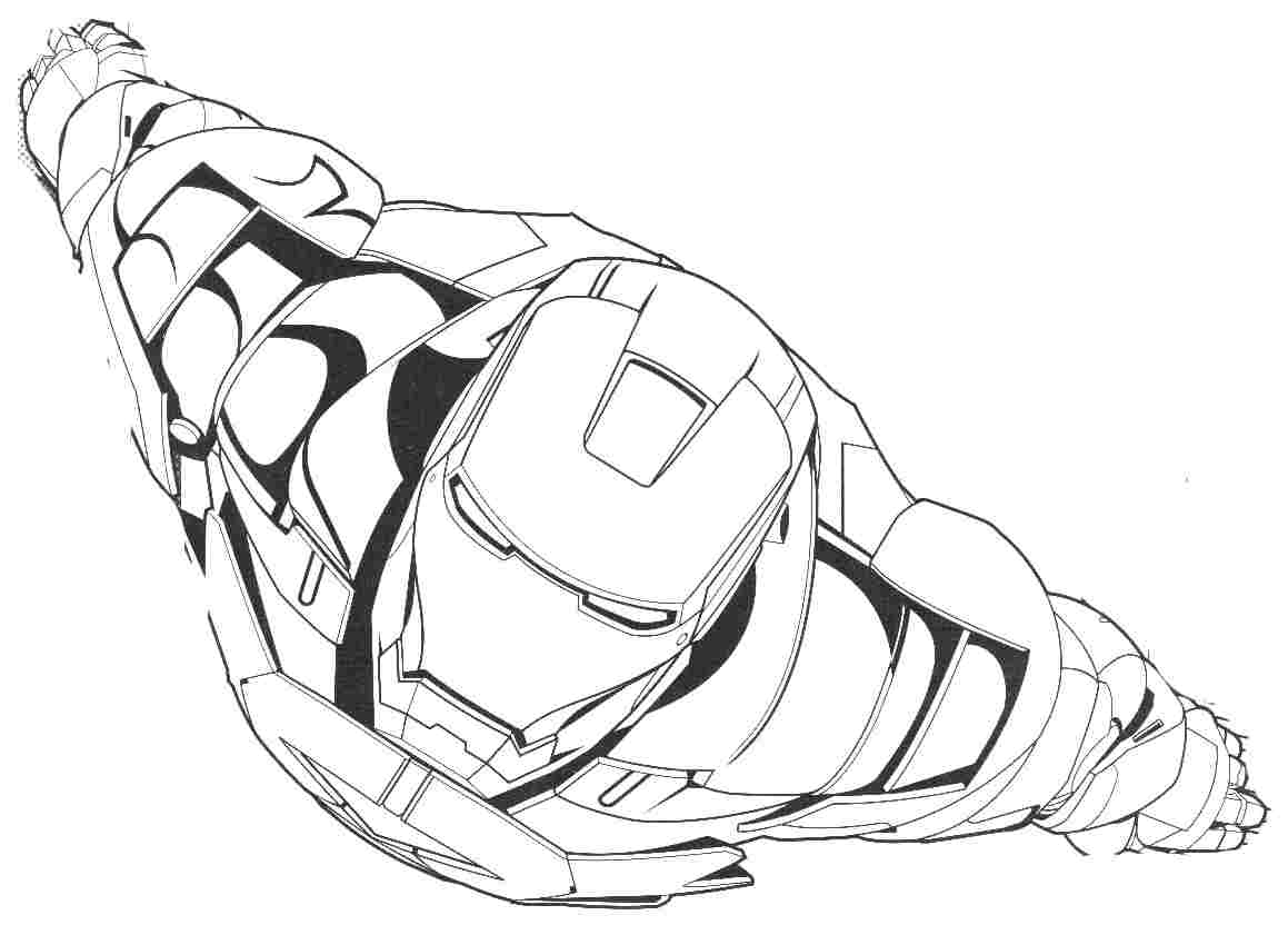 Iron Man Flying Coloring Pages at GetDrawingscom Free