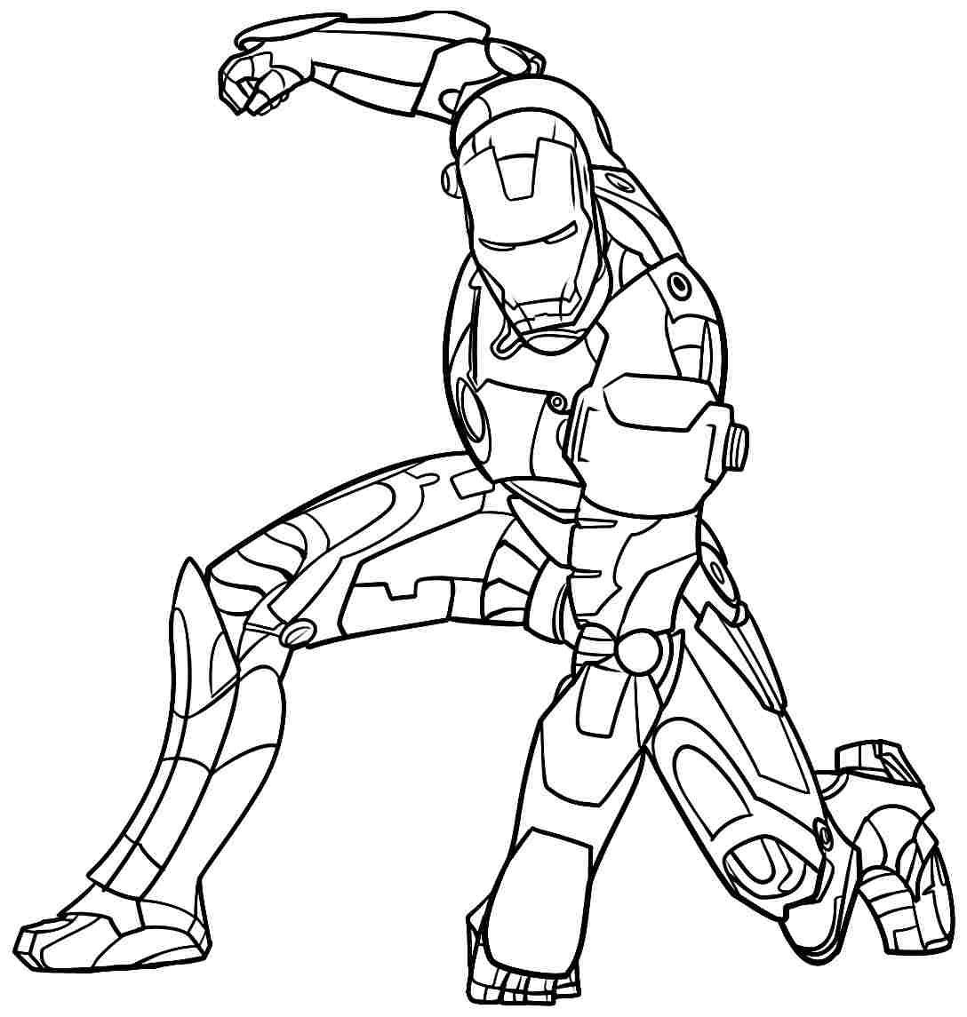 Iron Man Printable Coloring Pages