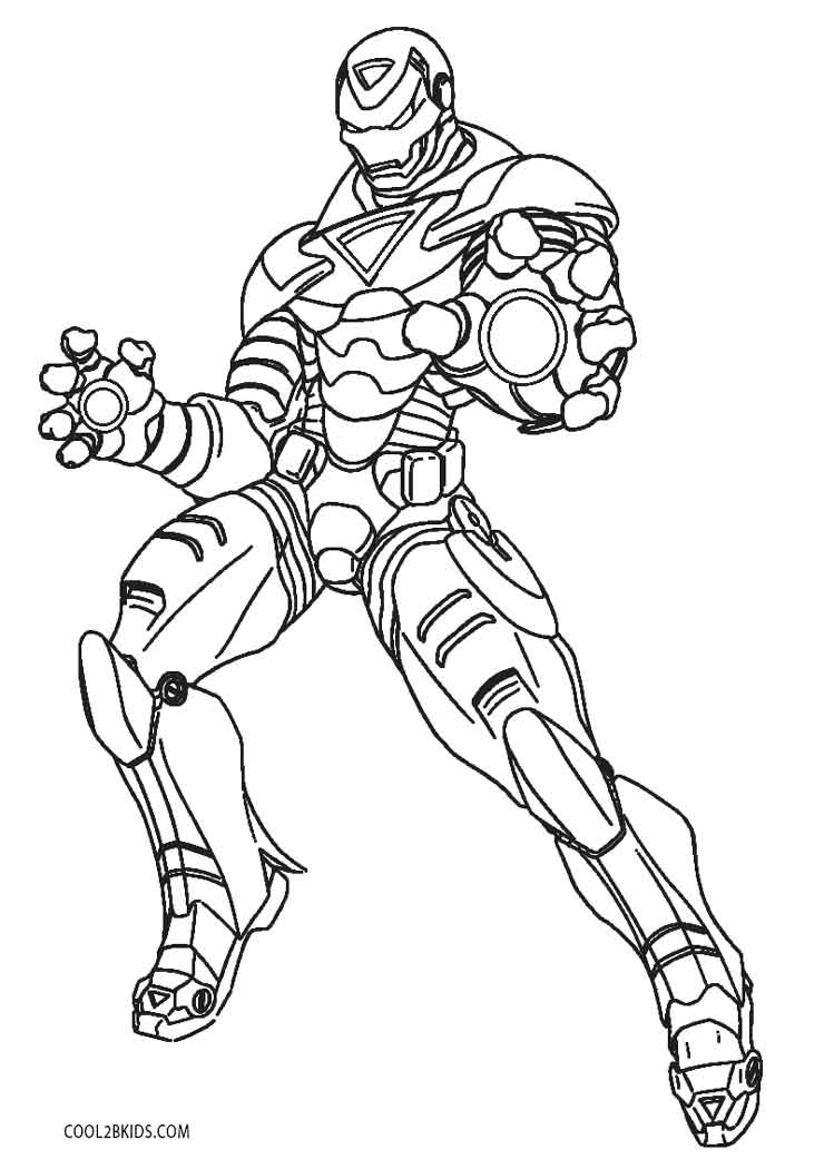 Iron Man Printable Coloring Pages at GetDrawings   Free download