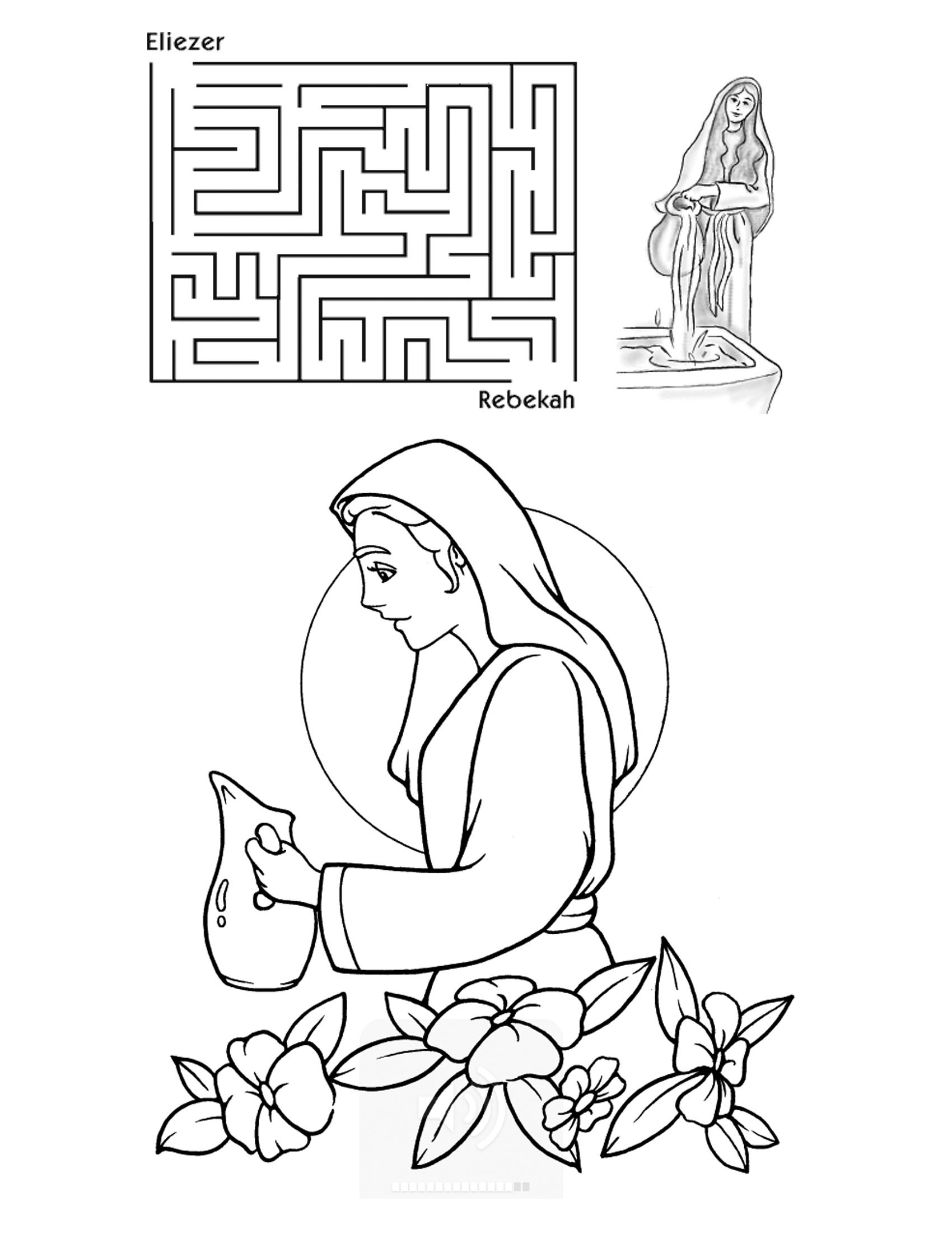 1700x2200 Amazing Isaac And Rebekah Coloring Pages Images Inside P Adorable