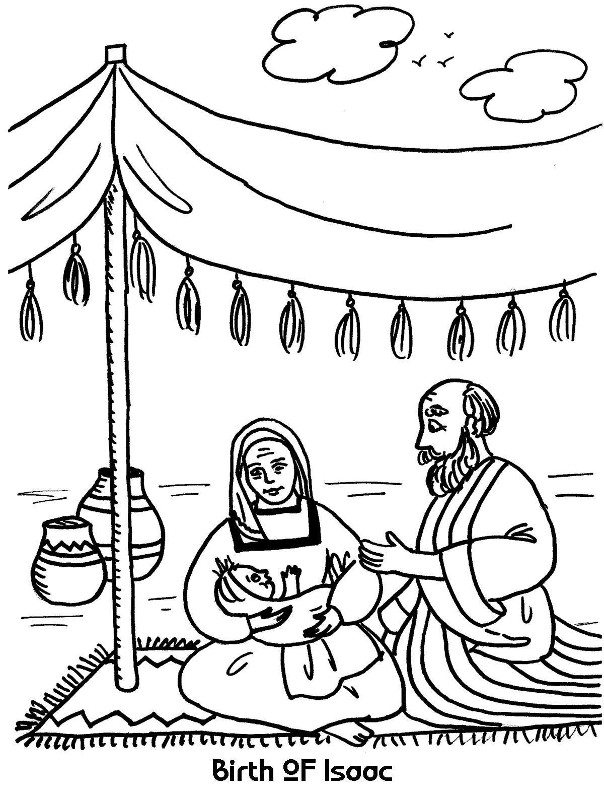 1200x1576 Birth Of Isaac Coloring Sheet Wesleyan Kids
