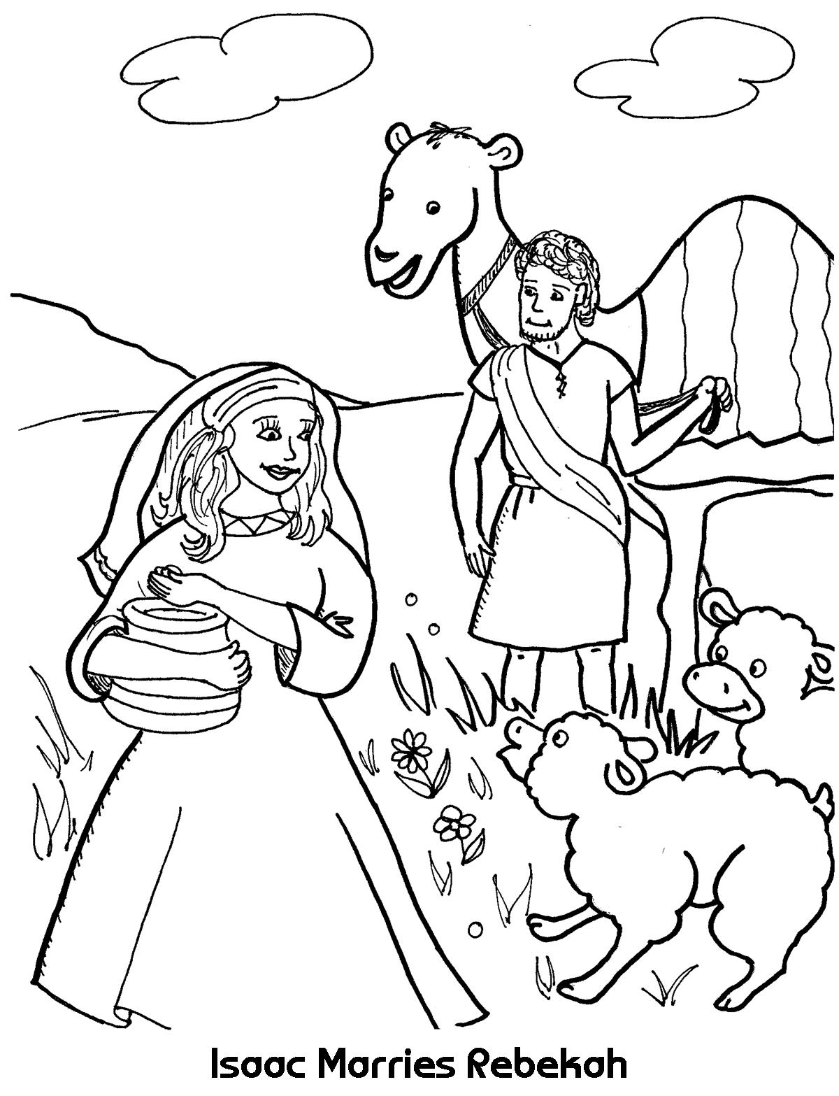 1200x1567 Valuable Isaac And Rebekah Coloring Page Marries Sheet Wesleyan