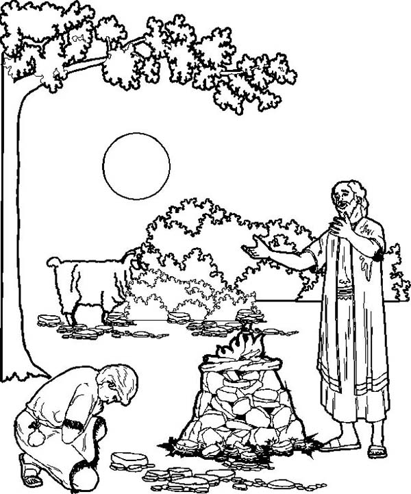 abraham and isaac coloring pages for kids | The best free Isaac coloring page images. Download from ...