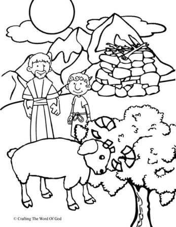 347x448 Abraham And Isaac Coloring Page Epic Abraham And Isaac Coloring