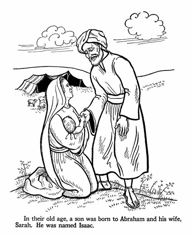 670x820 Abraham Bible Story Coloring Pages Patience Isaac Is Born
