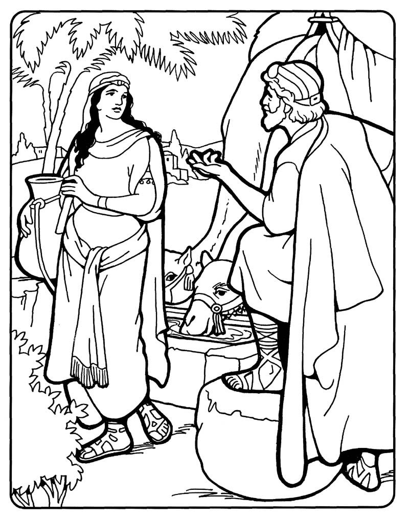 800x1015 Excellent Isaac Is Born Coloring Pages Abraham Finds A Wife