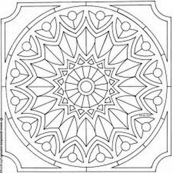 570x570 Arabic Tiles Coloring Pages