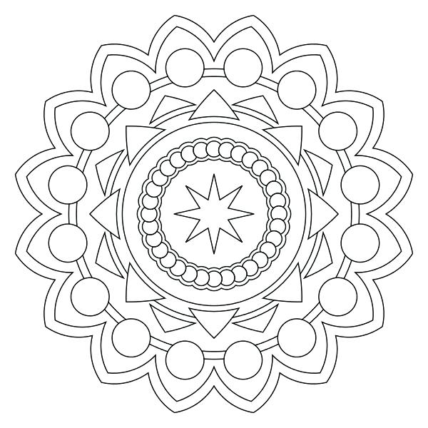 600x600 Islamic Art Coloring Pages Free Printable Mandala Coloring Pages