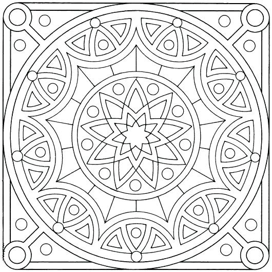 530x529 Islamic Art Coloring Pages Tiles Other Colouring Pages Free