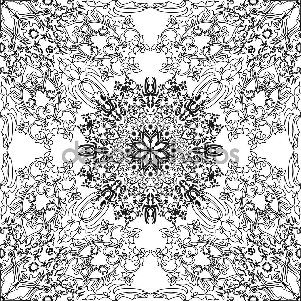 1024x1024 Best Islamic Pattern Coloring Page Printable Picture For Art