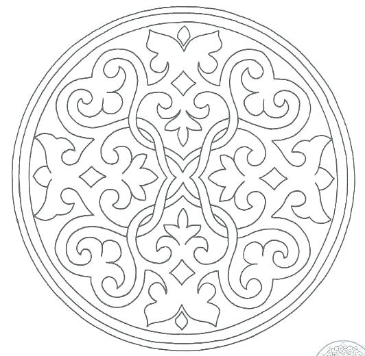 532x520 Muslim Coloring Pages Free Islamic Art Coloring Pages