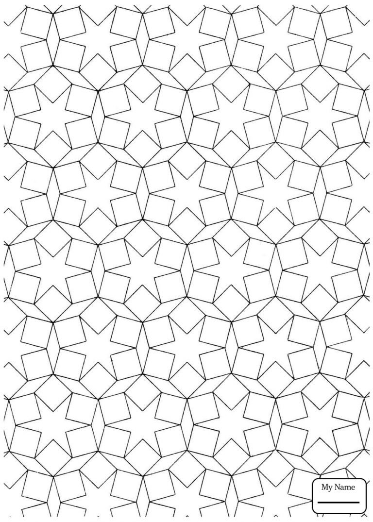 768x1075 Coloring Pages Islamic Patterns Copy For Kids Arts Culture Pattern