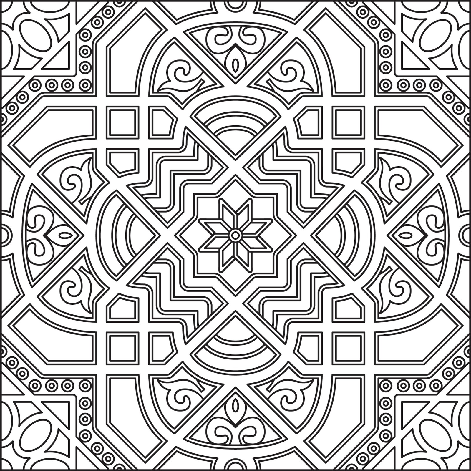 1600x1600 Coloring Pages Islamic Patterns Fresh Black And White Islamic Art