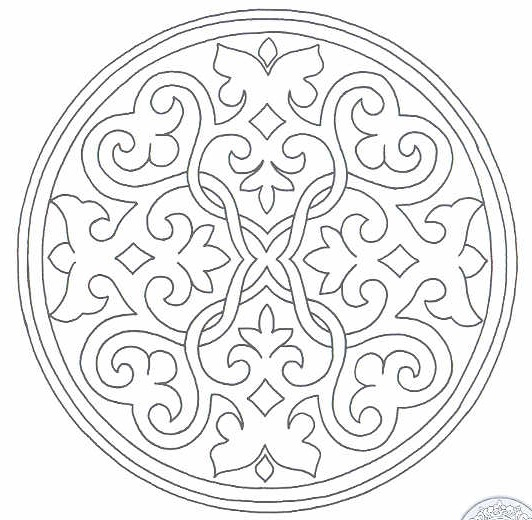 532x520 Islamic Art Coloring Pages