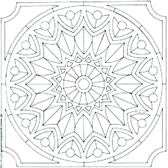 570x570 Islamic Coloring Pages Colouring Pattern Islamic Art Coloring