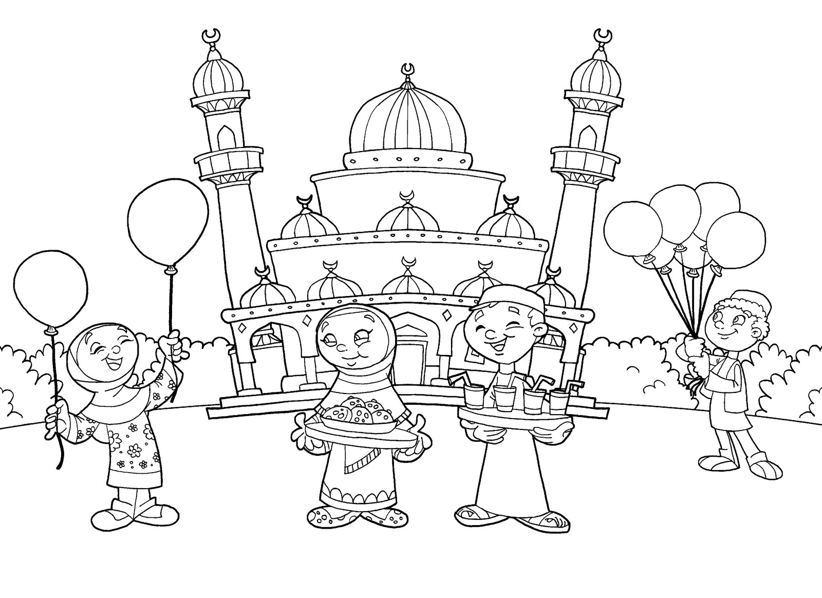 1600x1164 Islamic Coloring Pages Printable Muslim Within Ahmedmagdy Me