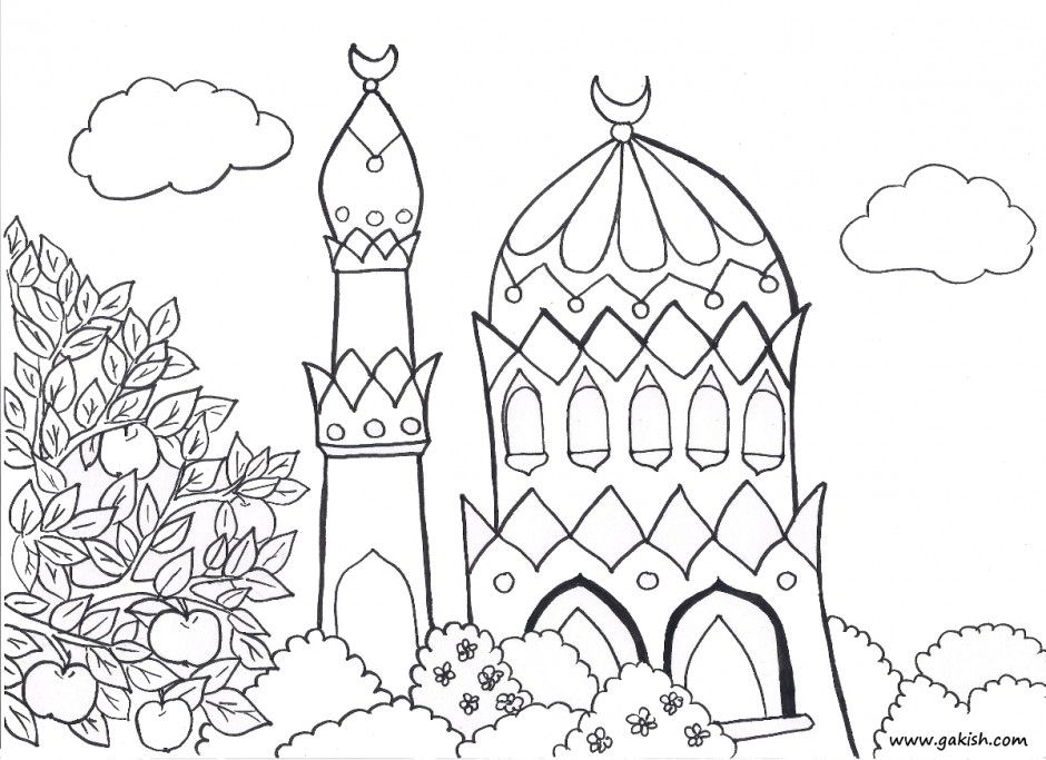 940x683 Printable Islamic Coloring Pages For Kids