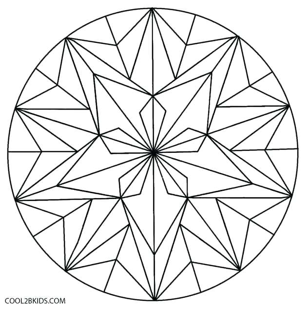630x639 Geometric Color Pages Geometric Flower Coloring Pages Islamic