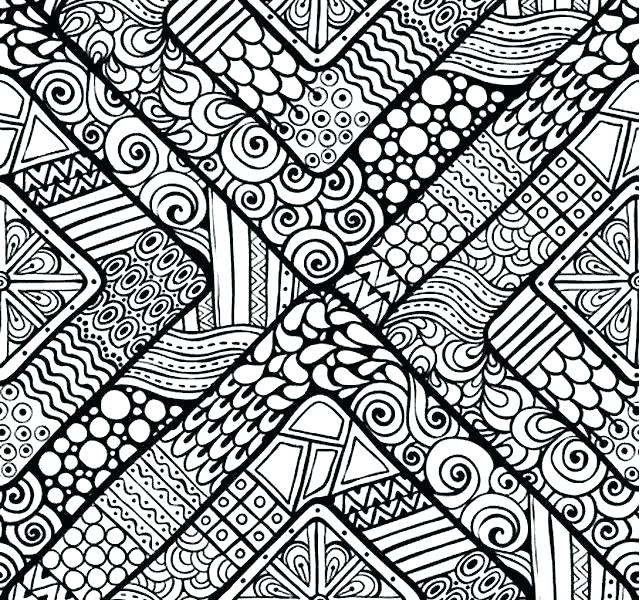 640x600 Geometric Pattern Coloring Pages Free Geometric Design Coloring