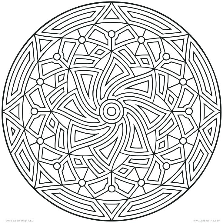 736x736 Geometric Patterns Coloring Pages Coloring Geometric Shapes