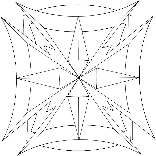 630x633 Geometric Patterns Coloring Pages Easy Geometric Coloring Pages