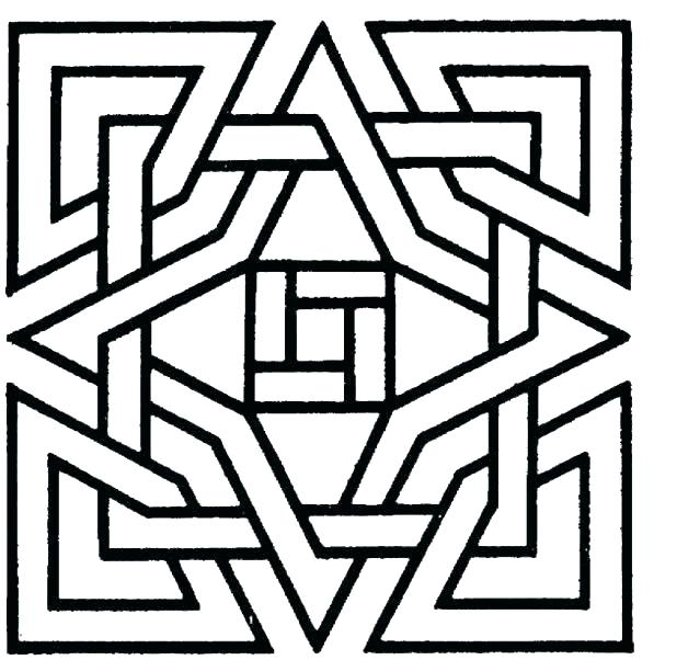 618x602 Geometric Patterns Coloring Pages Patterns Coloring Pages