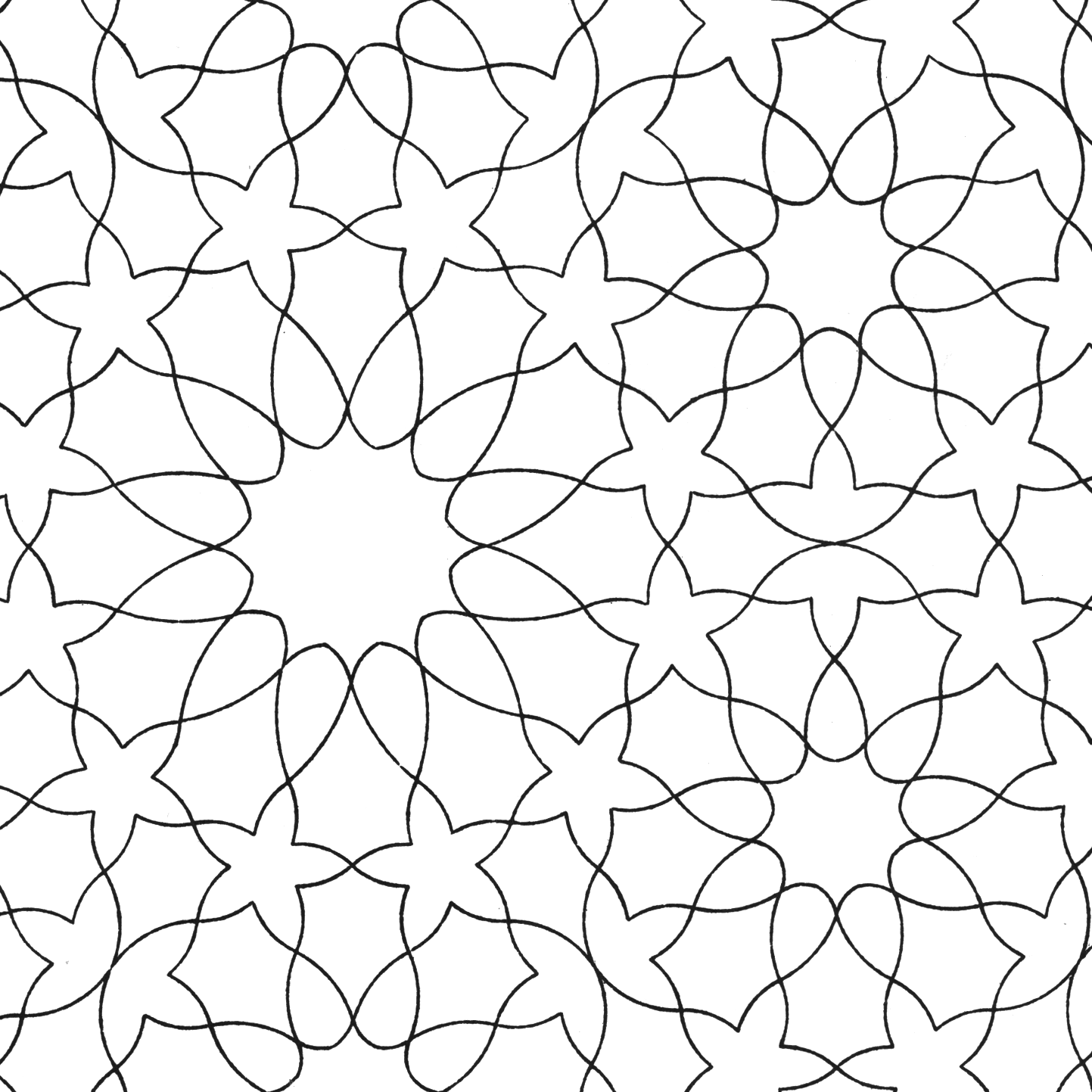 1443x1443 Hd Images Of Pin Islamic Patterns Colouring Sheets