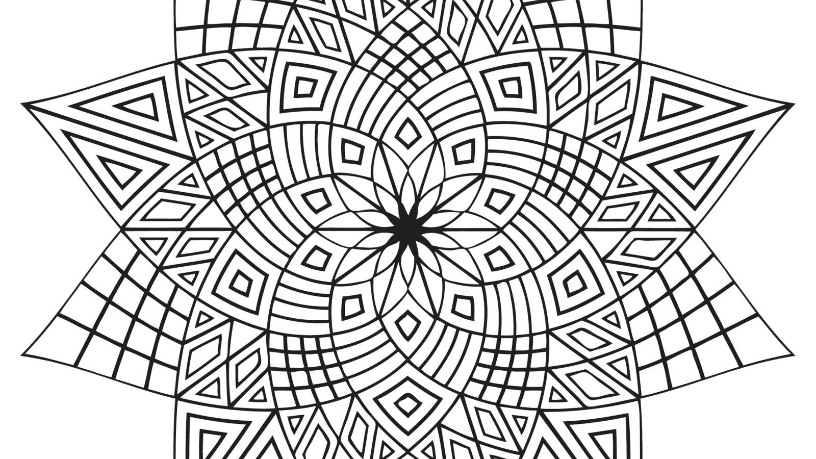 1600x900 Islamic Geometric Patterns Coloring Pages Hagio Graphic Arabic