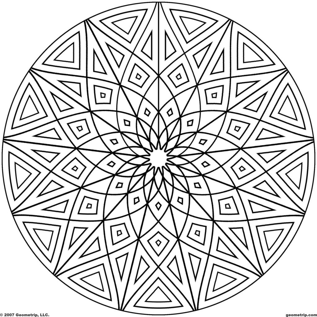 1024x1024 Coloring Pages Islamic Patterns Fresh Geometric
