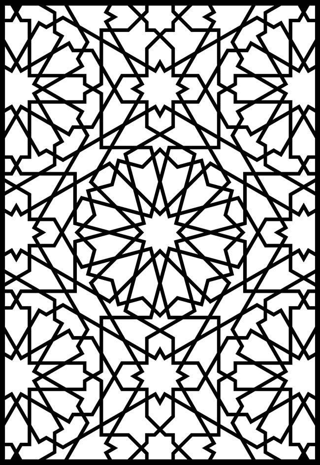 650x945 Alhambra Designs Coloring Pages