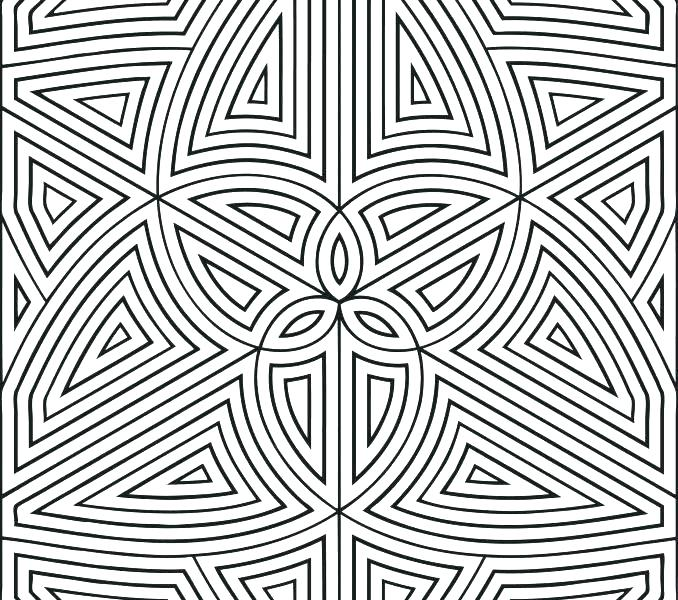 678x600 Geometric Patterns Coloring Pages