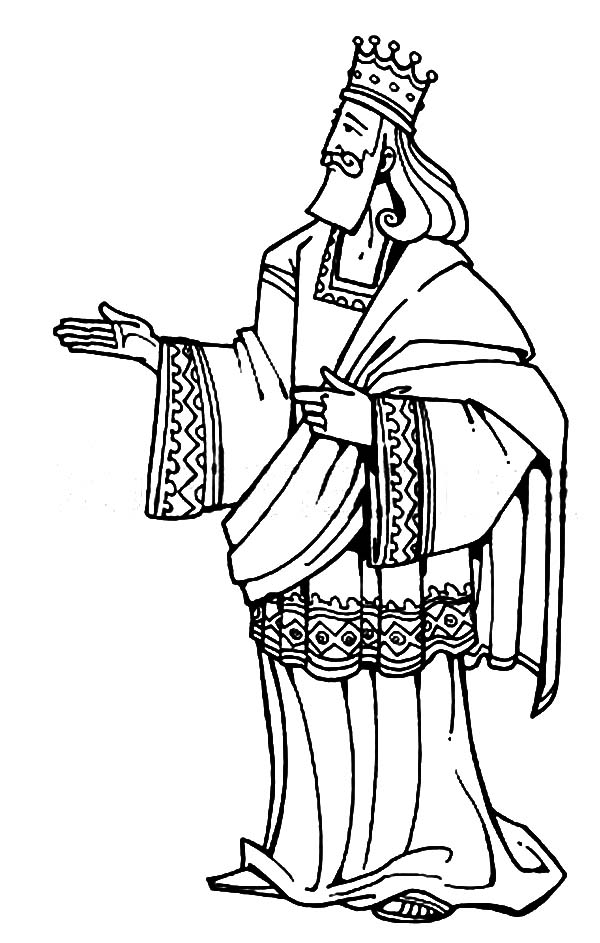600x943 King Solomon Of Israel In The Bible Heroes Coloring Page
