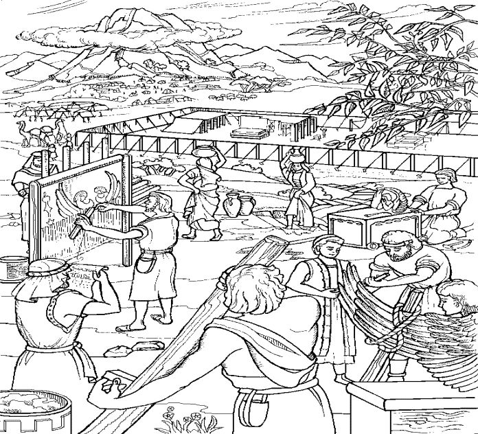 Egypt Israelite Slaves Coloring Page | Bible coloring pages ... | 632x696