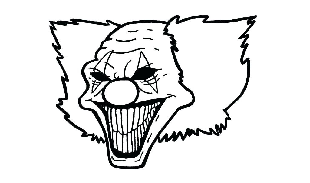 1024x604 Clown Coloring Pages Evil Clown Coloring Pages Scary Clown
