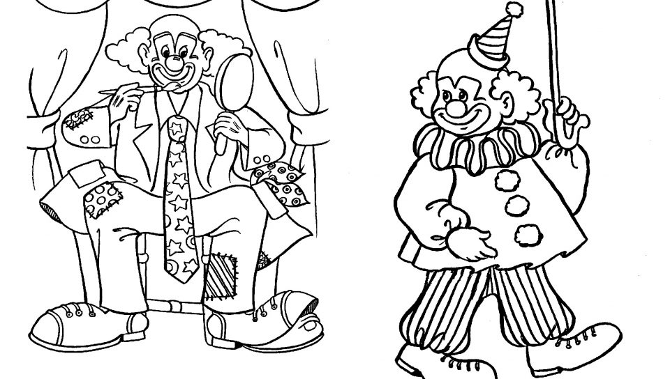 960x544 Creepy Clown Coloring Pages Many Interesting Page Free General