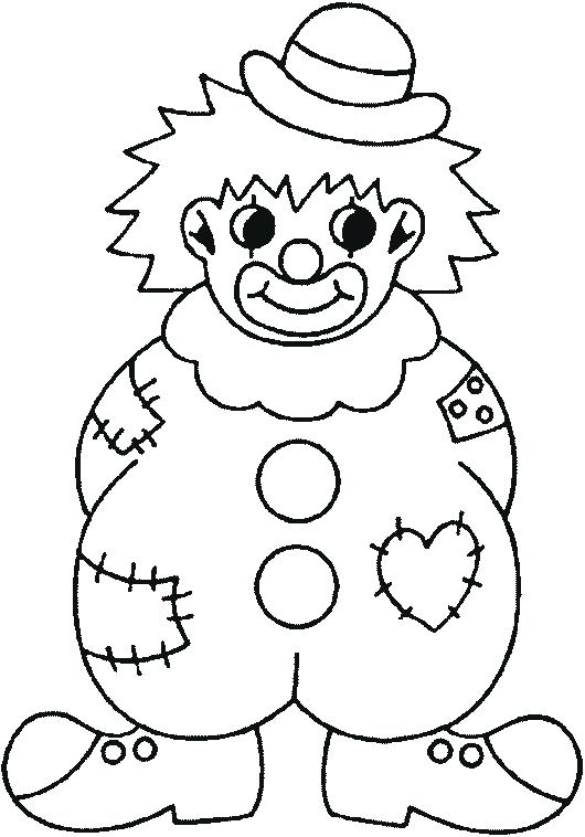 530x758 Clown Coloring Pages For Preschoolers Clown Coloring Pages