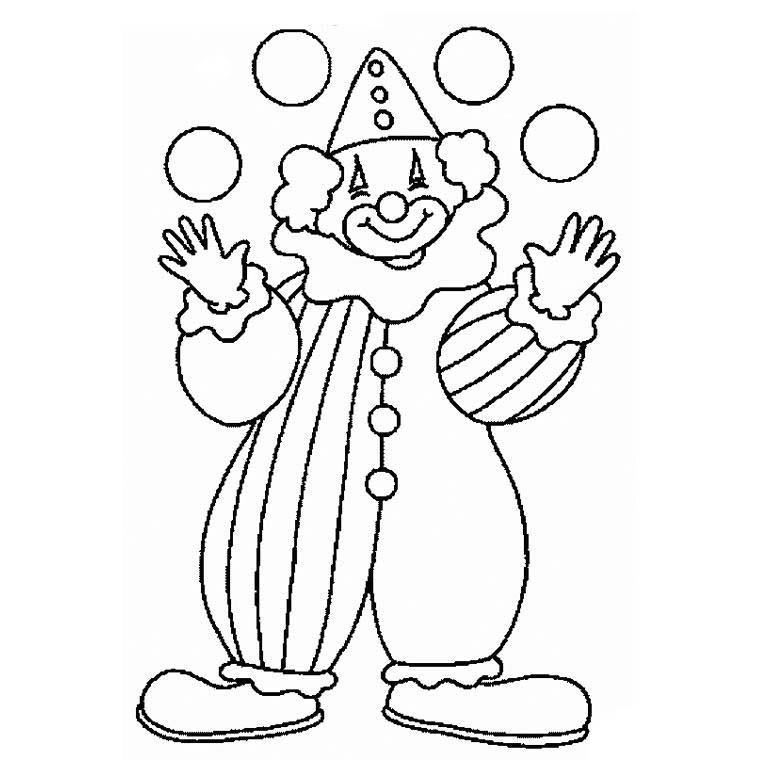760x760 Clown Coloring Pages For Preschoolers Circus And Clown Coloring