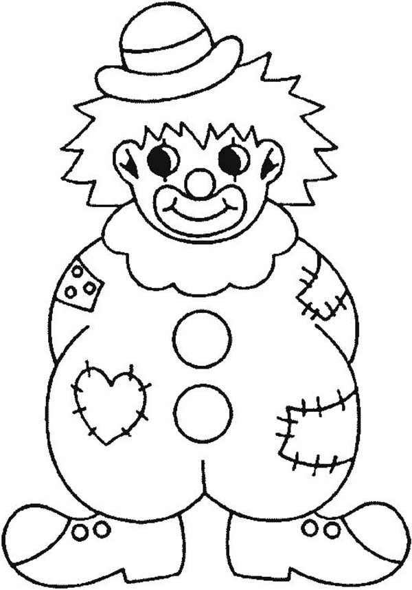 600x858 Clown Pictures To Color Scary Clown Coloring Pages Coloring Page