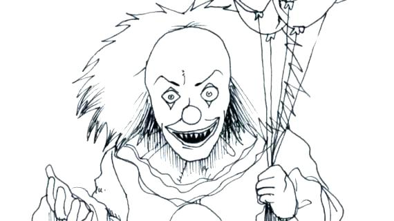 570x320 Clowns Coloring Pages Clown Coloring Pages Clowns Coloring Pages