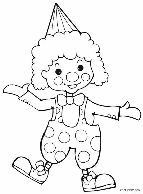 545x741 Coloring Clown