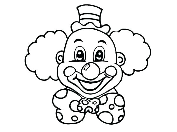 600x448 Coloring Pages Of Scary Clowns Clowns Coloring Pages Clown