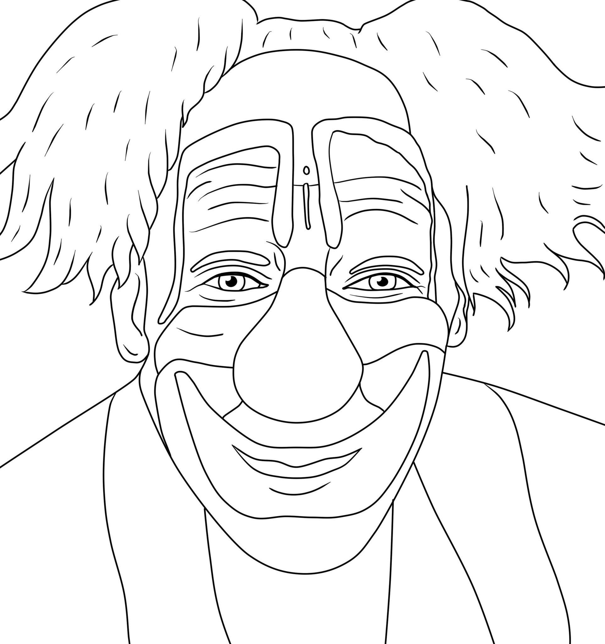 1925x2048 For Scary Clown Coloring Pages
