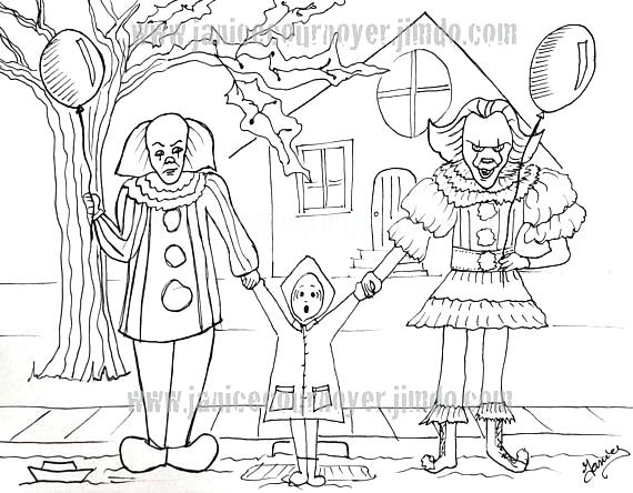 570x444 Gremlins Coloring Pages It Movie Clowns Old And New It Movie