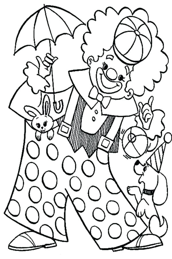 600x902 Circus Coloring Pages Printable Clown Coloring Pages Coloring